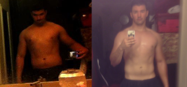 Vlad- Insanity (60 days) 25 lbs lost and abs showing!
